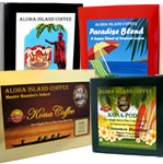 Senseo Pods of Kona Coffee, Kona Coffee Blend, Hawaiian Coffee, Organic Arabica Coffee from Aloha Island Coffee