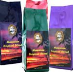 Hawaiian Blends with 4 Roasts, Six Flavors, and Water Process Decaf from Aloha Island Coffee