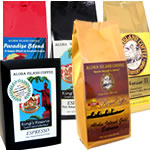 Espresso Roast Kona Coffee, Kona Hawaiian Coffee, Organic Arabica, and Senseo Pods from Aloha Island Coffee