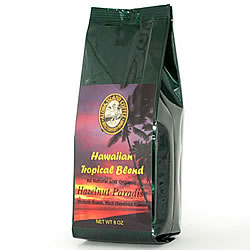 Hazelnut Flavored Hawaiian Coffee Blend from Aloha Island Coffee