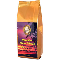 Cinnamon Hazelnut Flavored Hawaiian Coffee Blend from Aloha Island Coffee