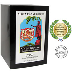 GOLD Kona Smooth Custom Hawaiian Blend Coffee Pods