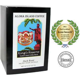 kona dark roast pods aloha island coffee. Black Bedroom Furniture Sets. Home Design Ideas