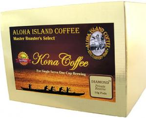 Famous DIAMOND 100% Kona Coffee Pods from Aloha Island Coffee