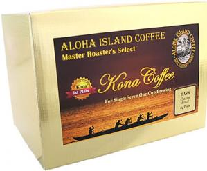 Dark Roast 100% Pure Kona Coffee Pods from Aloha Island Coffee