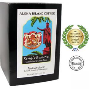 Kona Smooth Medium Roast Kings Reserve Hawaiian Coffee Blend Pods from Aloha Island Coffee