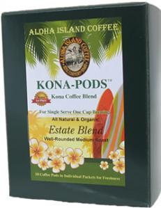 Estate Blend Kona Coffee Pods from Aloha Island Coffee