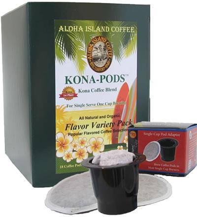 aloha island kona coffee pods keurig