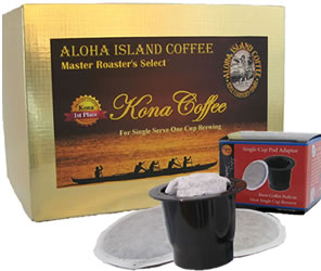 100% Pure Kona Coffee for Keurig K-cup Brewing