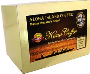 Medium Roast 100% Pure Kona Coffee Pods from Aloha Island Coffee