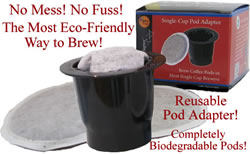 K-cup brewing with Pod Adapter from Aloha Island Coffee