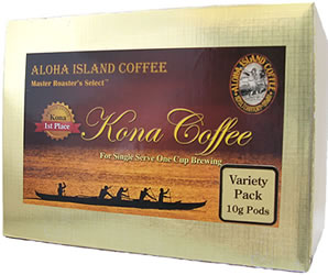 10g 100% Pure Kona Coffee Pods