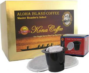 K-cup Pod Adapter and GOLD 100% Pure Kona Coffee for all k-cup type coffee brewers