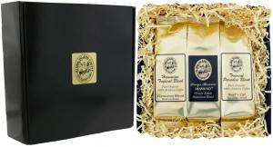 Gourmet Coffee Gift of Three Kona Hawaiian Coffees from Aloha Island Coffee