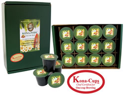Chocolate Flavored Kona Hawaiian Coffee K-cups from Aloha Island Coffee