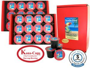 Chill Out, Swiss Water Process Decaf K-cups from Aloha Island Coffee