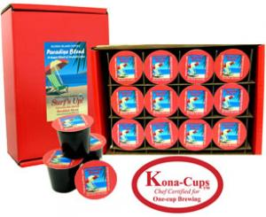 Surf's Up! Breakfast Blend Organic Arabica K-cups from Aloha Island Coffee