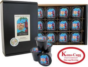 Kings Reserve Kona Hawaiian Blend Dark Roast K-cups from Aloha Island Coffee