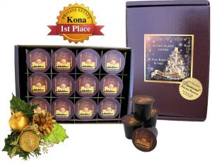 K-cup Christmas Gift of 100% Pure Kona Coffee from Aloha Island Coffee