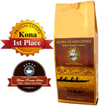 GOLD 100% Pure Kona Coffee Medium-Dark Roast from Aloha Island Coffee
