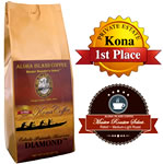 DIAMOND Private Reserve 100% Pure Kona Coffee Medium-Light Roast from Aloha Island Coffee