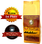 PLATINUM Light Roast 100% Pure Kona Coffee from Aloha Island Coffee