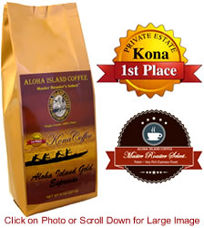 ESPRESSO Roast 100% Pure Kona Coffee from Aloha Island Coffee