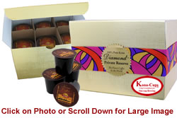 Gold Gift Box with 12 K-cups of Private Reserve Diamond 100% Pure Kona Coffee from Aloha Island Coffee
