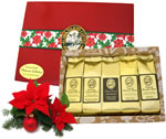 Voted Best Coffee Gift for Christmas 2015, Sampler of Five Kona Hawaiian Coffee Blends