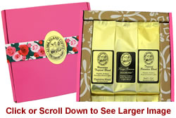 Kona Hawaiian Coffee Gift for Women in Bright Pink Box for Christmas, Birthday, Mothers Day
