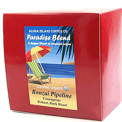 Coffee Pods, Bonzai Pipeline Dark Roast Organic Coffee