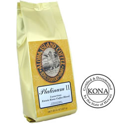 Platinum Kona Coffee Blend, Light Roast