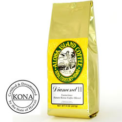 Aloha Island Diamond Kona Coffee Blend